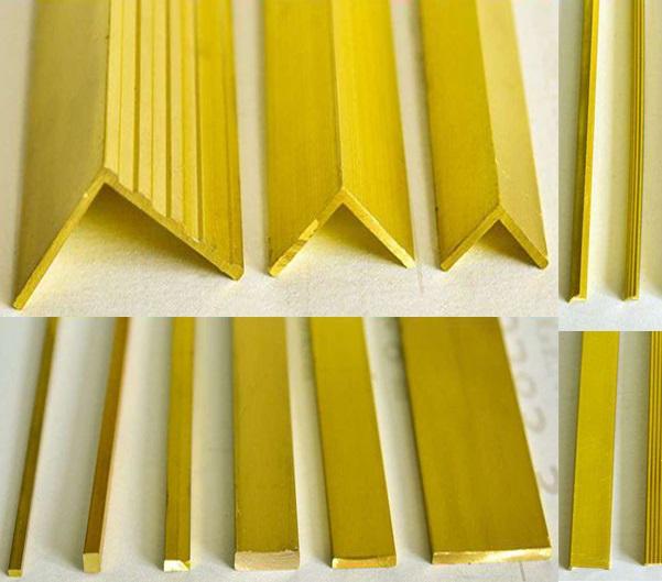 Các loại nẹp đồng trang trí phổ biến trên thị trường hiện nay