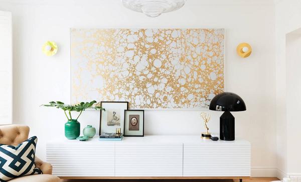 Kết hợp nhiều vật liệu kim loại khác nhau trong trang trí nội thất tạo không gian độc đáo hoàn mỹ