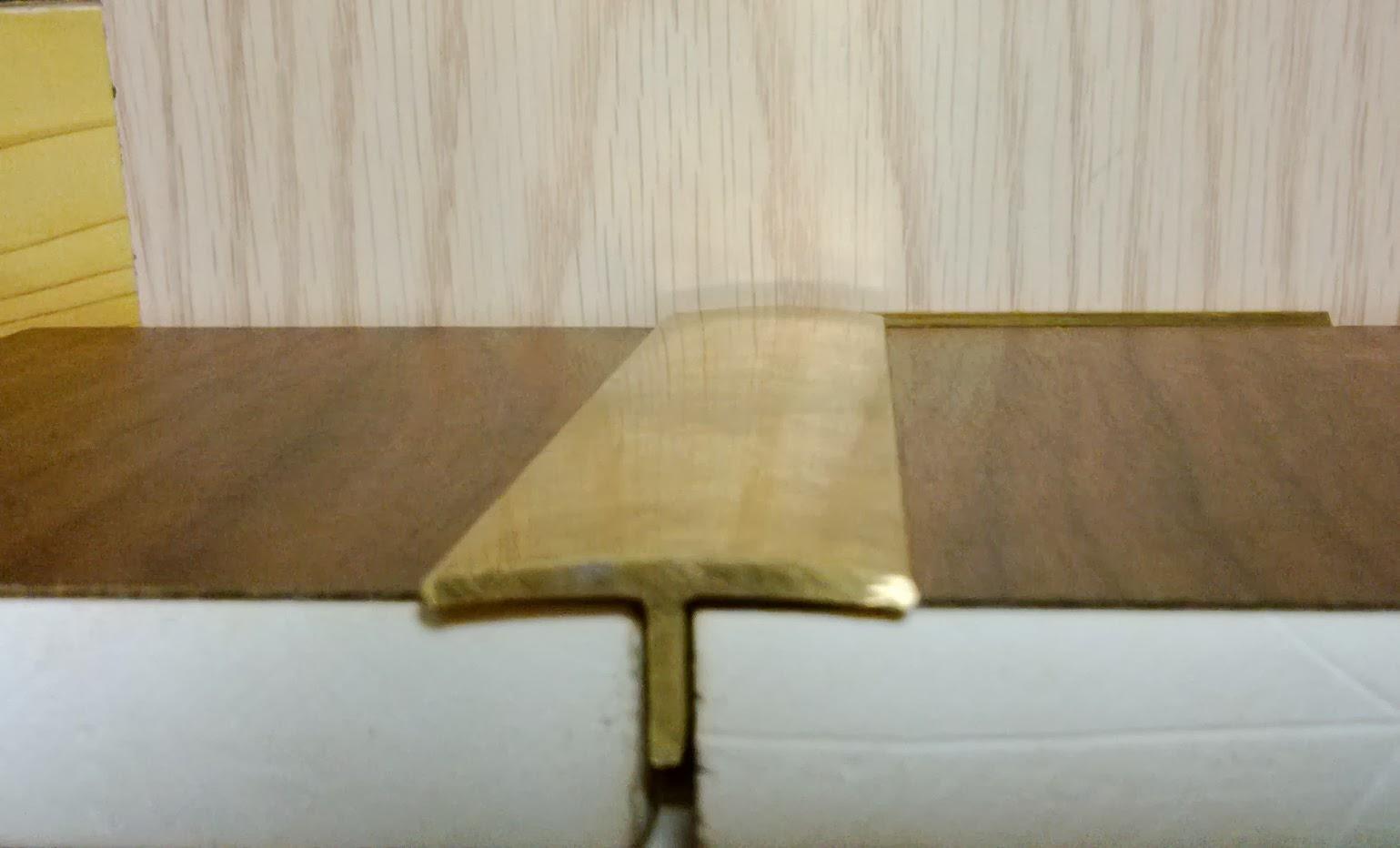 Nẹp đồng sàn gỗ tự nhiên trang trí bảo vệ mép sàn