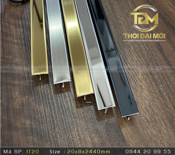 Nẹp Inox 304 T20mm